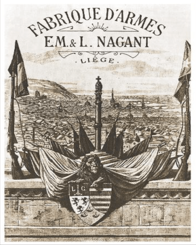 Advertisement for Emile & Leon Nagant's arms company