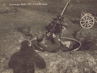 German Maxim in antiaircraft mounting