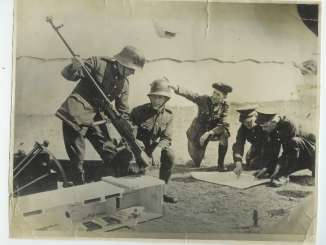 Irish troops unpacking a new Boys Anti-Tank Rifle