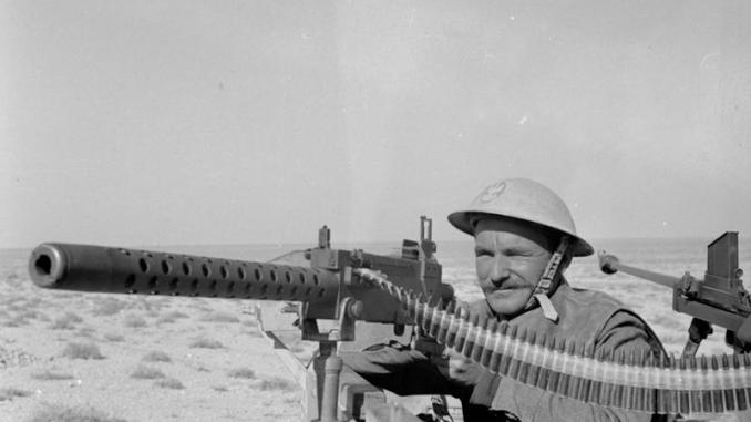 Polish soldier on the line near Gazala, Libya - February 1942