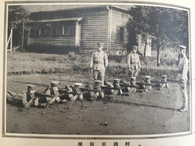Type 11 Nambu gunners on the training range