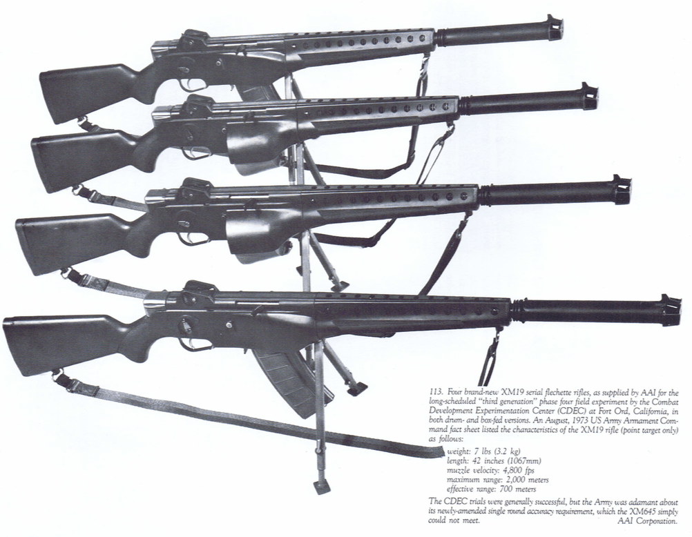 "Four XM-19 ""Rifles"""