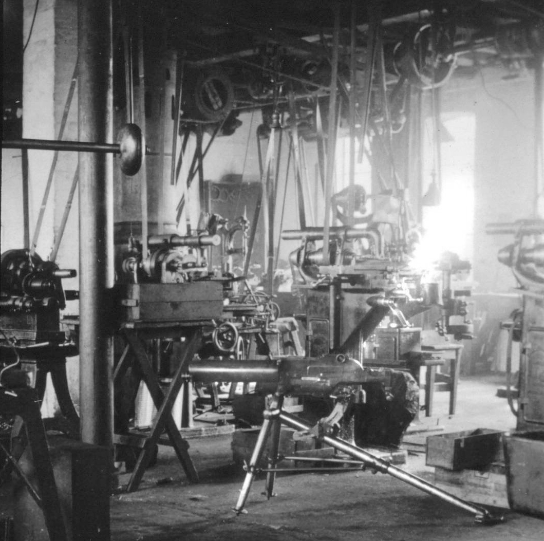 Schwarzlose machine gun in the Schutz & Larsen factory, 1941