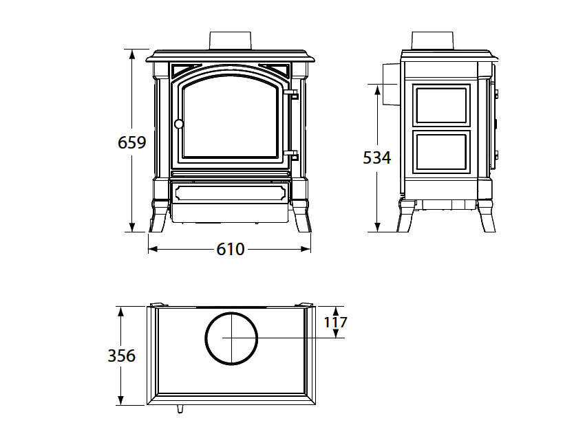 Comprar estufa de leña Nestor Martin H23 Forjas Salvador.