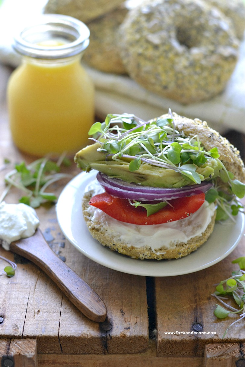 Gluten Free Vegan Everything Bagels  Fork and Beans
