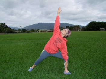 Judith White practices yoga.