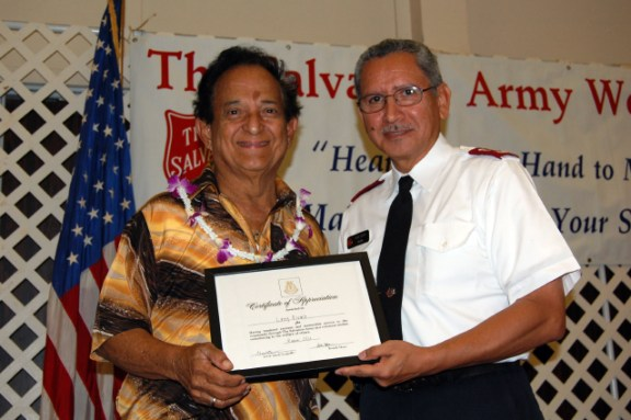 Lihu`e Salvation Army Outstanding Volunteer of the Year, Larry Rivera