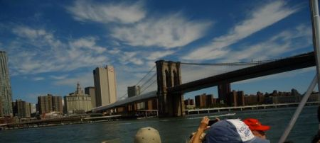 East River — Brooklyn Bridge, looking toward Manhattan