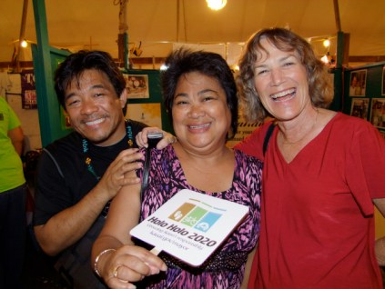 People have a good time at the fair, like these three at the 2011 Fair.