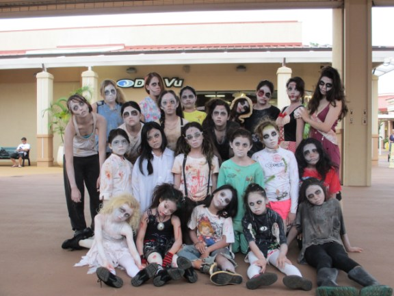 Aloha Dance Studio presented Halloween fun all month long at Kukui Grove Center, and the dancing ghouls are celebrating TODAY, RIGHT NOW at 4:30 p.m. Photo by Jill Suga