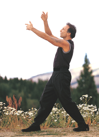 Francesco Garripoli does qigong.