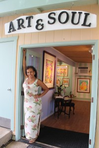 Artist and gallery owner, Mercedes Maza has been capturing Kaua`i in watercolor for over 31 years.