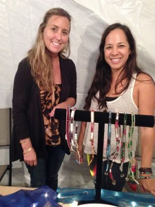 Erin Akau, left, of Ku'uanu Designs, and Denise Graham, of Kaua'i Kasual.