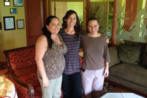 From left to right, Hukilau Lanai managers Chantry Williams and Angela Hoover, and restaurant owner Krissi Miller.