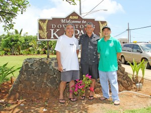 Kapa'a businessmen, from left to right, Winston Kawamoto, Jim Saylor and Ken Kubota.