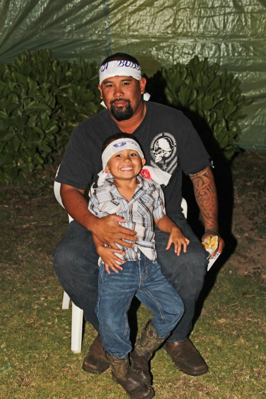 Brandon Salvador and his son, Kanoa Salvador.