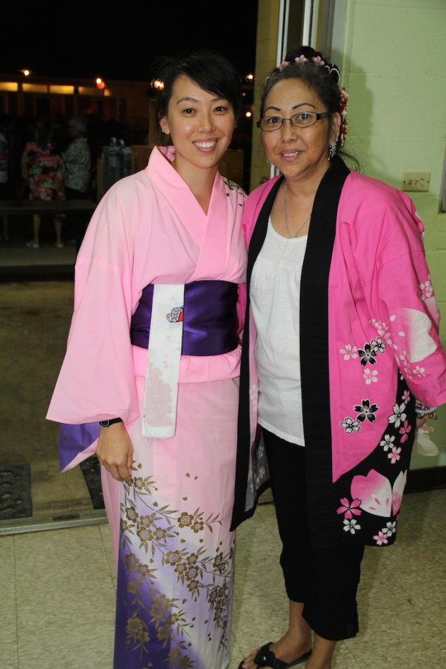 Jan Wada, right, and her daughter, Shanti Uychara.