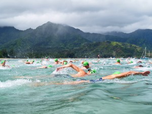 Swimmers are seen here during the 2013 Hanalei Bay Swim Challenge. Organizers are expecting record numbers of participants in this year's event.