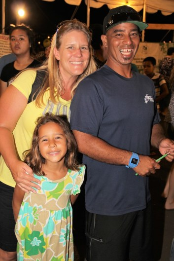 The Panui 'ohana: Henry and Kerry with their daughter Mahie.