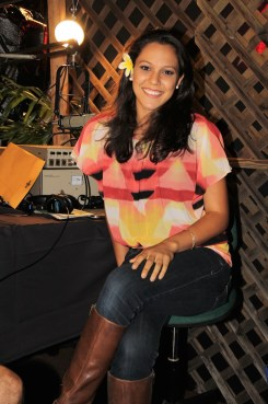 Kaua'i's own, Miss Hawai'i Stephanie Steuri, playing DJ at Kong Radio.