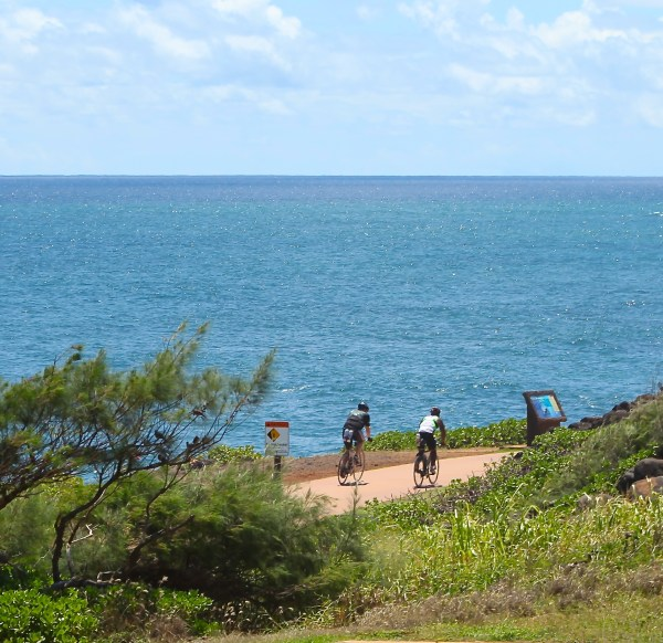 Bikers on the Kaua'i Coastal Path