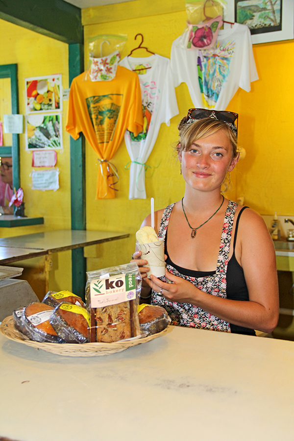 Banana Joe's, right next to the Kilauea Mini Golf, has been serving some of the best smoothies and frosties on Kaua'i for 28 years. Kelsy Burch, pictured here, says a lot of their produce is local, 'and we like to keep it that way.' Owners Joe Halasey and Cindy established their farm in 1979 and opened the stand in 1986. They've had customers from all over the world, and some of them have been coming back for more than 20 years.