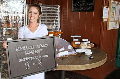 Hanalei Bread Company, just outside Bar Acuda Tapas & Wine in Hanalei, offers a daily variety of exquisite breads, each of them worth a try. Just ask staff member Eva Michetti.