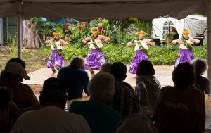 Hula dancers and six bands kept the crowd entertained.