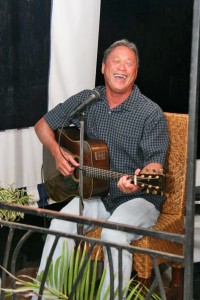 Mike Young singing at Casablanca, Po'ipu in 2010.