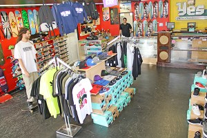 Yes I Kaua'i Skateshop is geared up for the holidays, full of deals on apparel and skateboards.