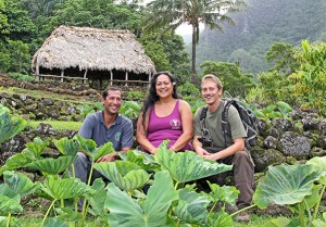 "Limahuli Garden and Preserve Director Kawika Winter, left, is seen here with Visitor Program Manager Lahela ""Antie Aloha"" Correa and Preserve Operations Manager John-Carl ""JC"" Watson."