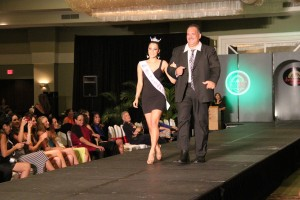 Mayor Bernard Carvalho Jr. and Miss Hawai'i 2014 Stephanie Steuri in last year's Kaua'i Fashion Weekend.