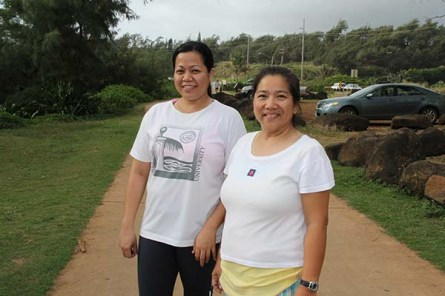 Marlenejoy Basug and Nama Soares, of Kapa'a.