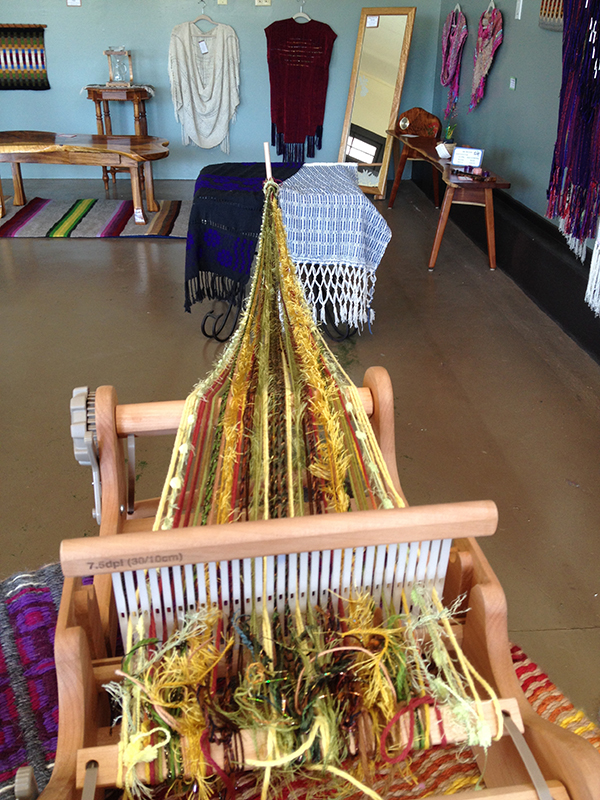Traditional weaving used by textile artists Skylar Farr and Jill Corlew.