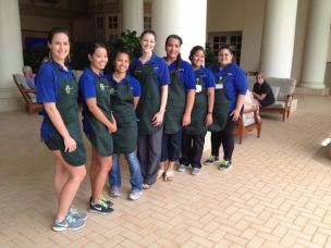 Junior and senior students in the Nursing School at Kaua'i Community College.