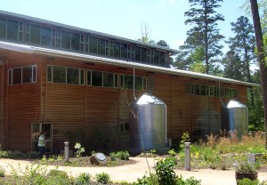 A rainwater catchment system is shown here. Photo by the American Rainwater Catchment Systems Association