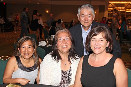From left to right, Celeste Rivera, Faith Soto, Wayne Takayama and Darla Domingo