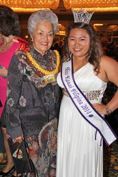 Former Mayor Maryanne Kusaka and Miss Kaua'i Filipino 2014 Kiana Pigao