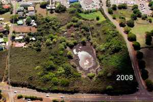 These two photos above and below show the cleaning progress from 2008, above, to 2014, below. Photo courtesy of Hui Malama O Kaneiolouma