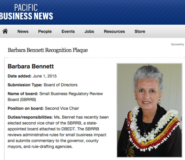 Barbara_Bennett_Recognition_Plaque_-_Pacific_Business_News