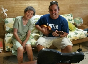 Grandma Marie Yamashita and I, in early July remembering our old kanikapila sessions back in 2007/2008.
