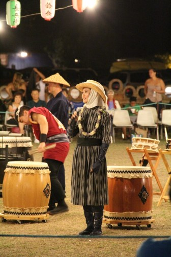 Cara Tsutsuse, of the Honolulu Fukushima Bon Dance Club