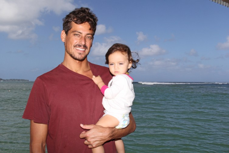 Evan Valiere and his daughter Jaya.