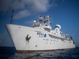 NOAA Ship Okeanos Explorer systematically explores the deep oceans of the world. Photo courtesy of NOAA