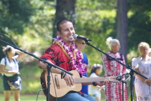 Musician Nick Castillo performs during the 2014 Eo e Emalani i Alaka'i.