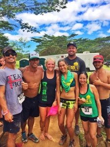 CrossFit Po'ipu owners Jamie Pacheco, shirtless, and Aaron Hoff, wearing black in the back, are seen here with staff and members.