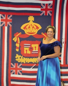 Nalani Kaauwai Brun, who will play Queen Emma at this year's Eo e Emmalani i Alaka'i.