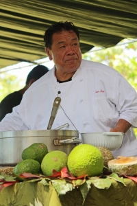 Celebrity chef Sam Choy, Hawai'i's 'Ulu Ambassador. Photo courtesy of National Tropical Botanical Garden