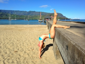 Samantha Fox Olson in Hanalei.