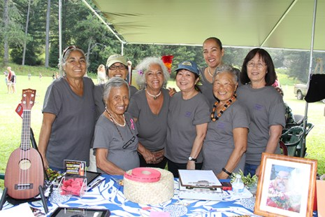 The Kupuna Klub, left to right, Carrie Newcomb, Winona Steed, Pat Nitta, Schar Freeman, Renee Takahashi, Puni Patrick, JoAnn Watanabe and Cyd Arrington.